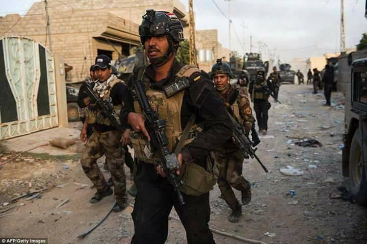 القوات الامنية تحرر  حي العلماء شرق الموصل