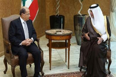 الرئيس اللبناني  يؤكد الحرص على تعزيز العلاقات مع السعودية