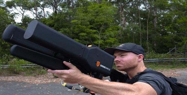 بالفديو بندقية إلكترونية مضادة للطائرات بدون طيار و تصيب الهدف عن بعد كيلومترين