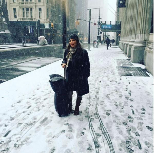 أصالة في إجازة باردةفي نيويورك مع  المخرج طارق العريان