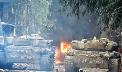 تقدم الجيش السوري وسيطرته على معمل كراش في جوبر