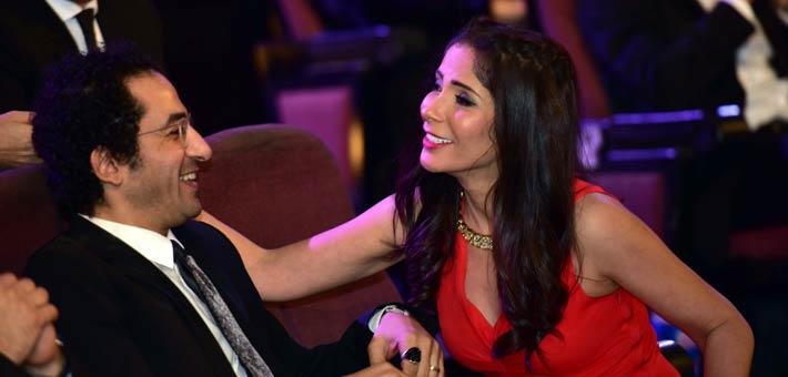 منى زكي تصور حلقتين مسلسل من إنتاج زوجها  أحمد حلمي أول أبريل