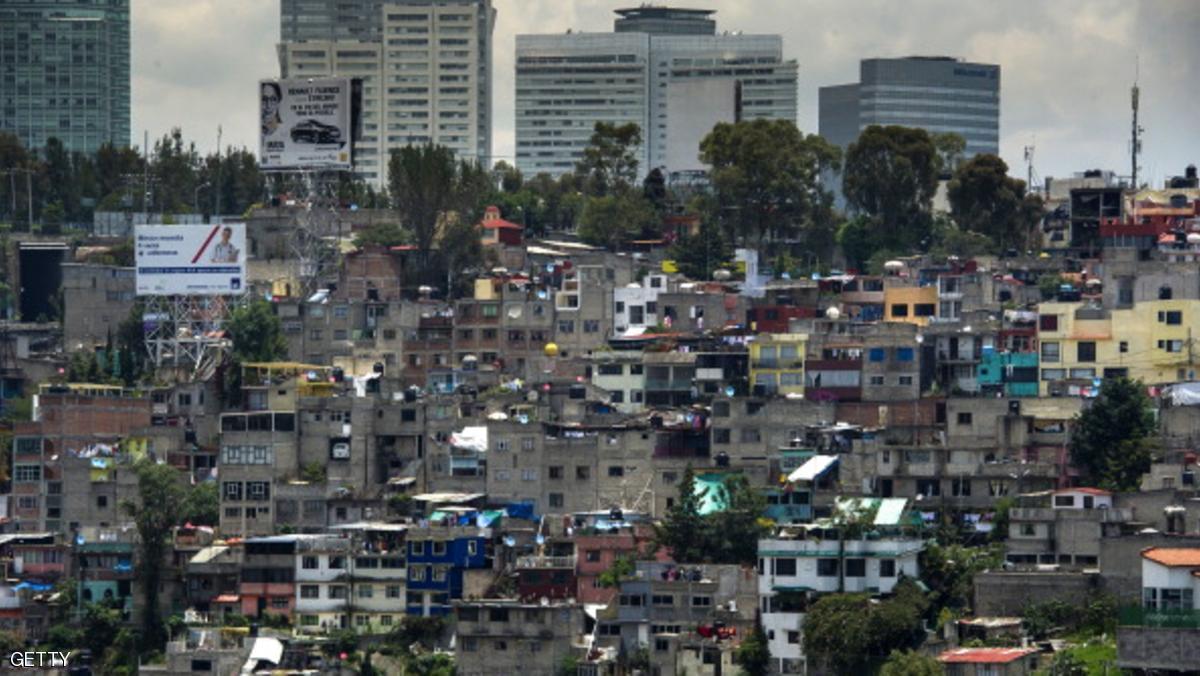 انهيار موقع إنشاء في مكسيكو سيتي