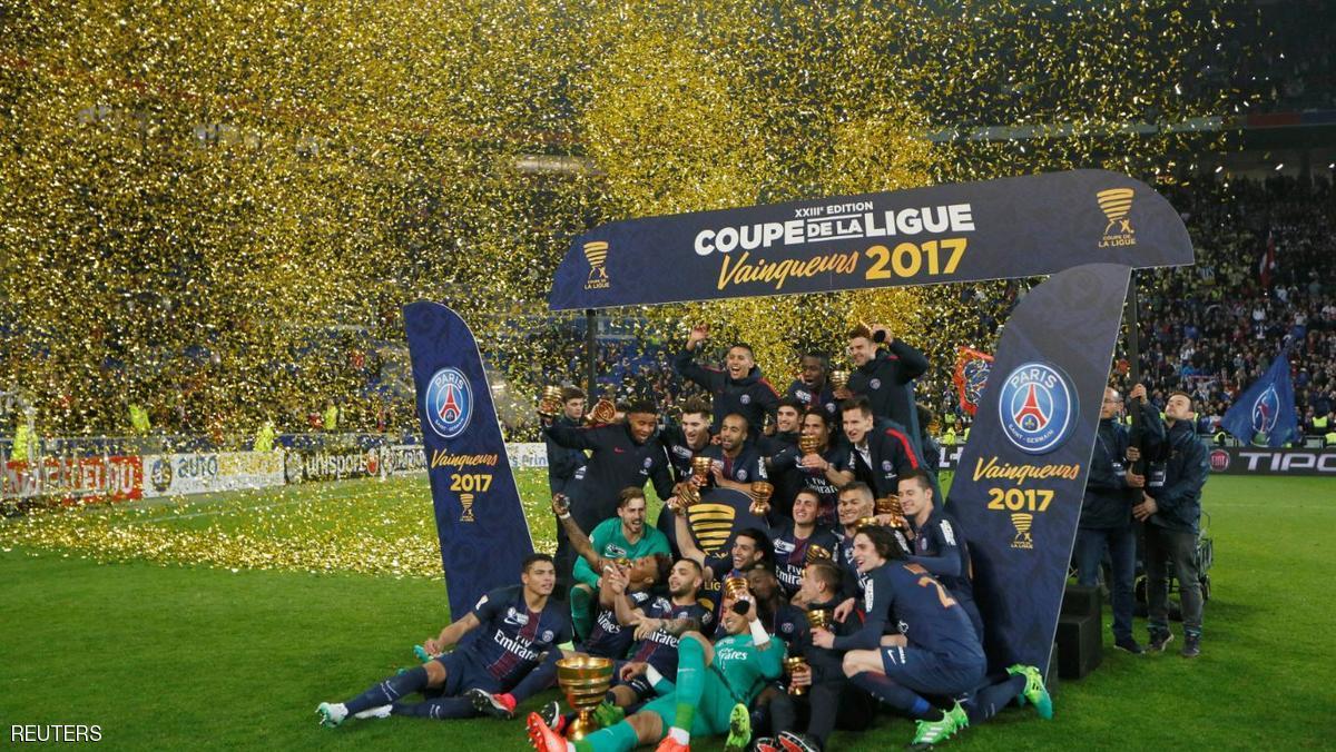 باريس سان جيرمان يتوج بطلا لكأس الرابطة للمرة الرابعة على التوالي