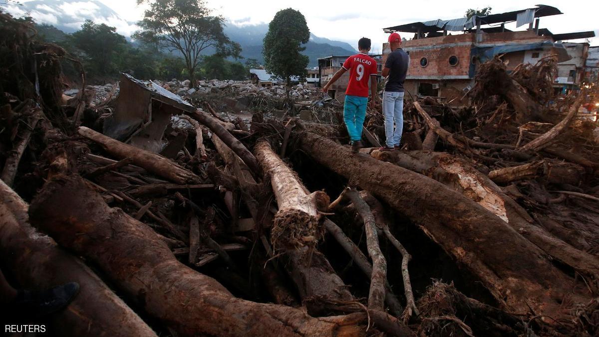 ارتفاع عدد قتلى الانهيار الأرضي في كولومبيا