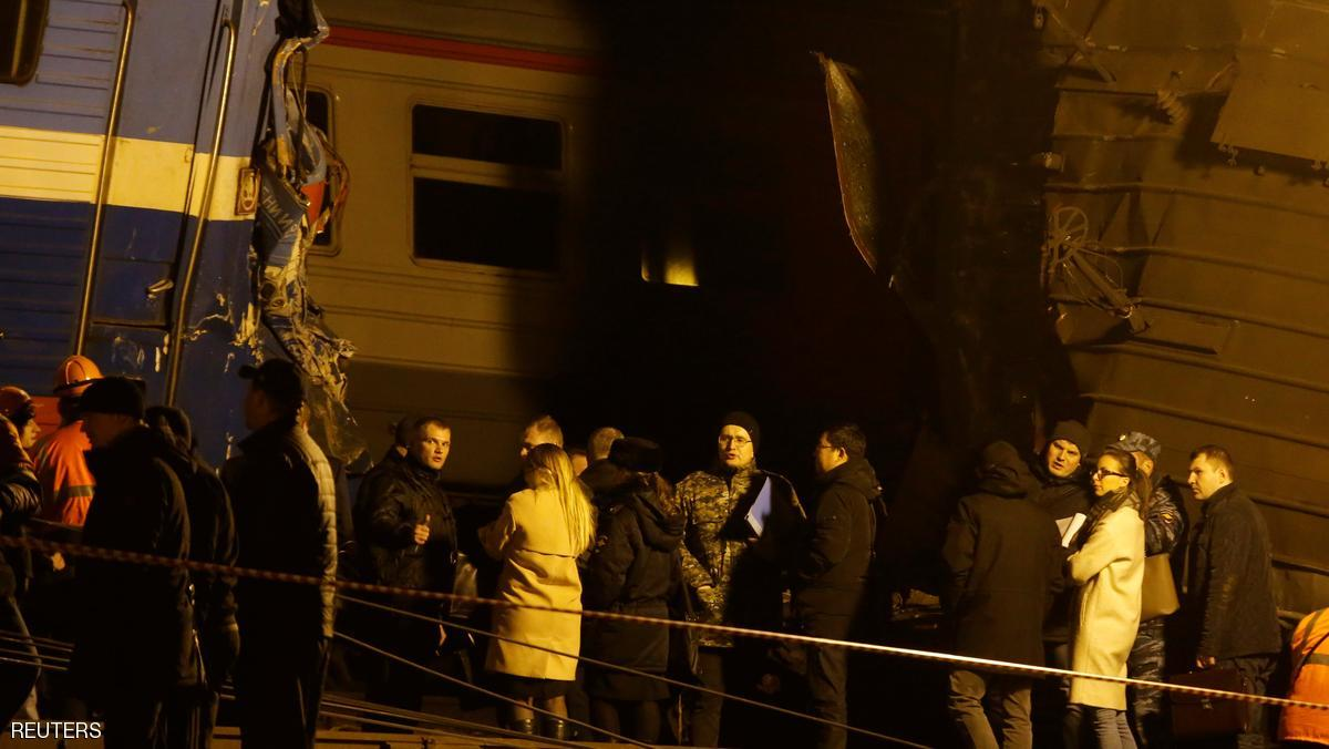 جرحى باصطدام بين قطارين في موسكو