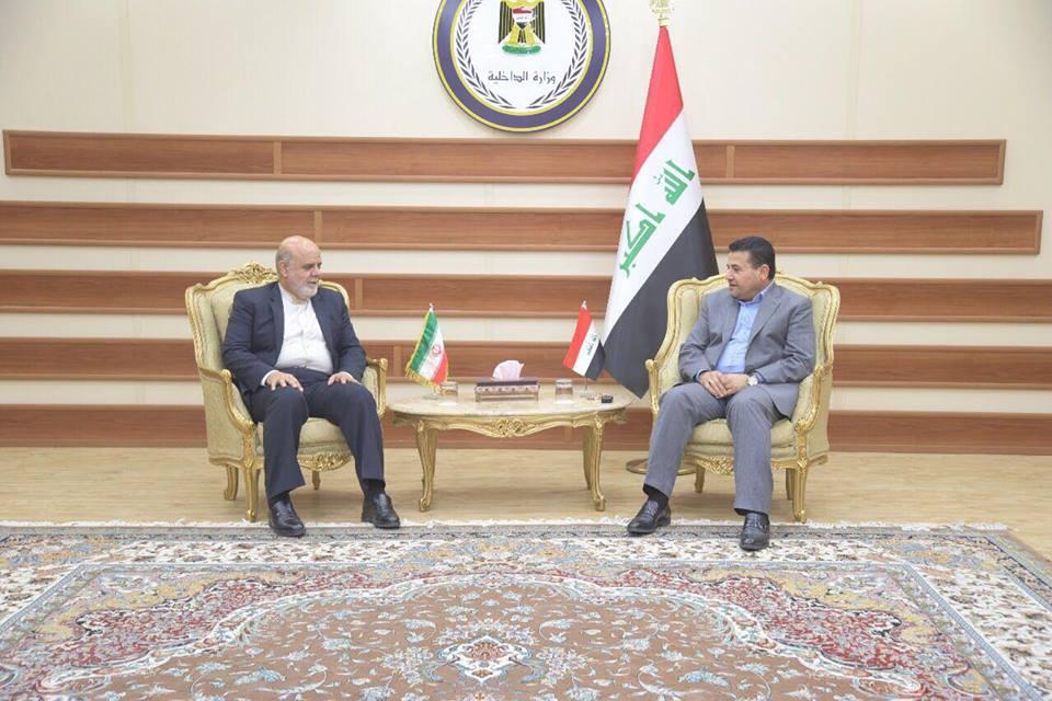 وزير الداخلية الاعرجي يبحث مع السفير الإيراني في بغداد تحضيرات الزيارة الأربعينية