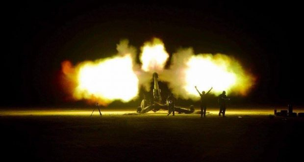 """الحشد الشعبي يدمر عجلة لـ""""داعش"""" تحمل احادية على الحدود"""