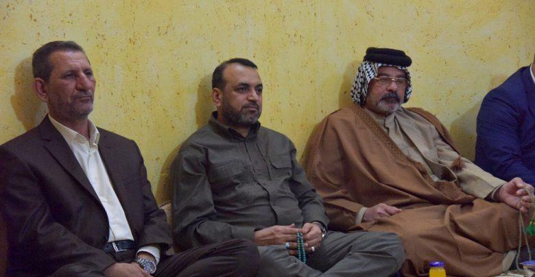 احمد الاسدي يزور احد جرحى النهروان