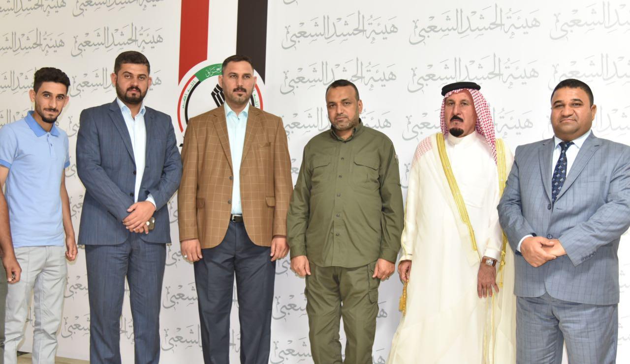 احمد الاسدي يلتقي الشيخ صباح الرميض في مكتبه ببغداد