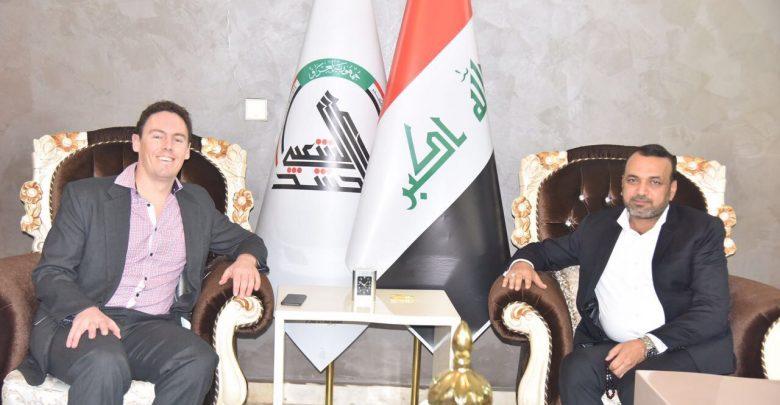 احمد الأسدي يستقبل السفير الاسترالي في مكتبه ببغداد