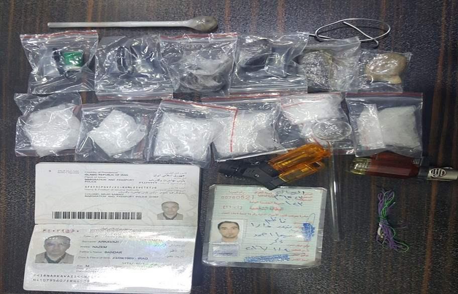 ضبط مسافر إيراني بحوزته مواد مخدرة في زرباطية