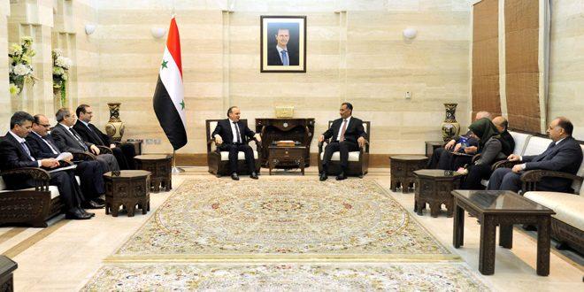 المهندس خميس: الحرب على الإرهاب تتطلب أعلى درجات التنسيق بين سورية والعراق