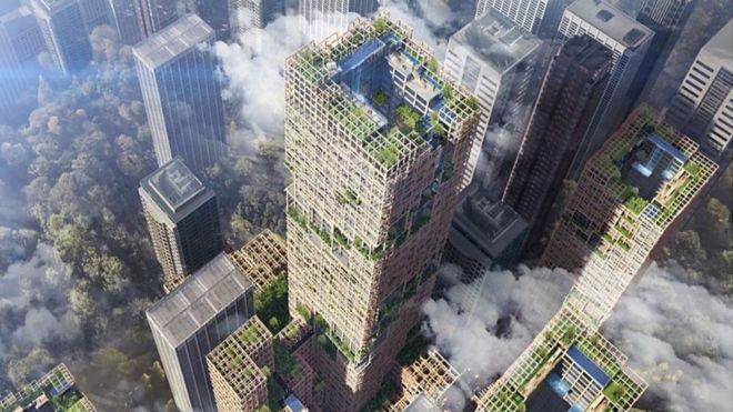 شركة يابانية تخطط لبناء أطول ناطحة سحاب خشبية في العالم
