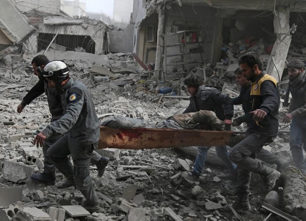 ارتفاع عدد الضحايا من المدنيين فى غوطة دمشق الى 828 قتيلا