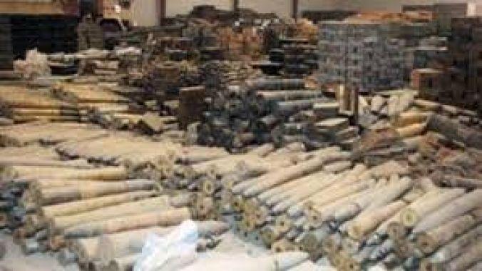 ضبط مخبأ للاسلحة والمتفجرات جنوبي بعقوبة