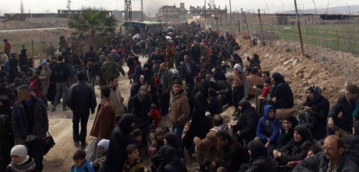 خروج 128 ألف شخص من الغوطة الشرقية منذ بداية الهدنة الإنسانية