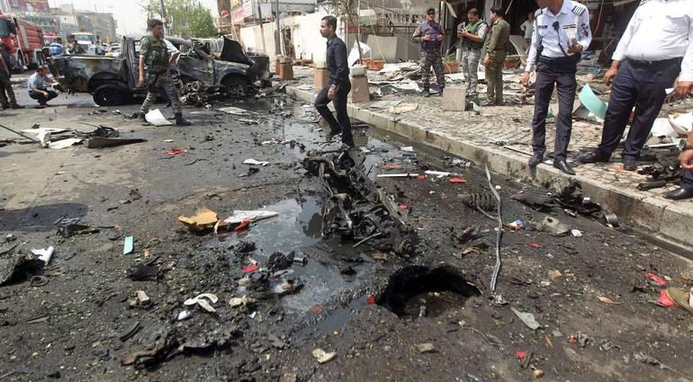 اصابة 4 مدنيين بتفجير عبوة ناسفة غربي بغداد