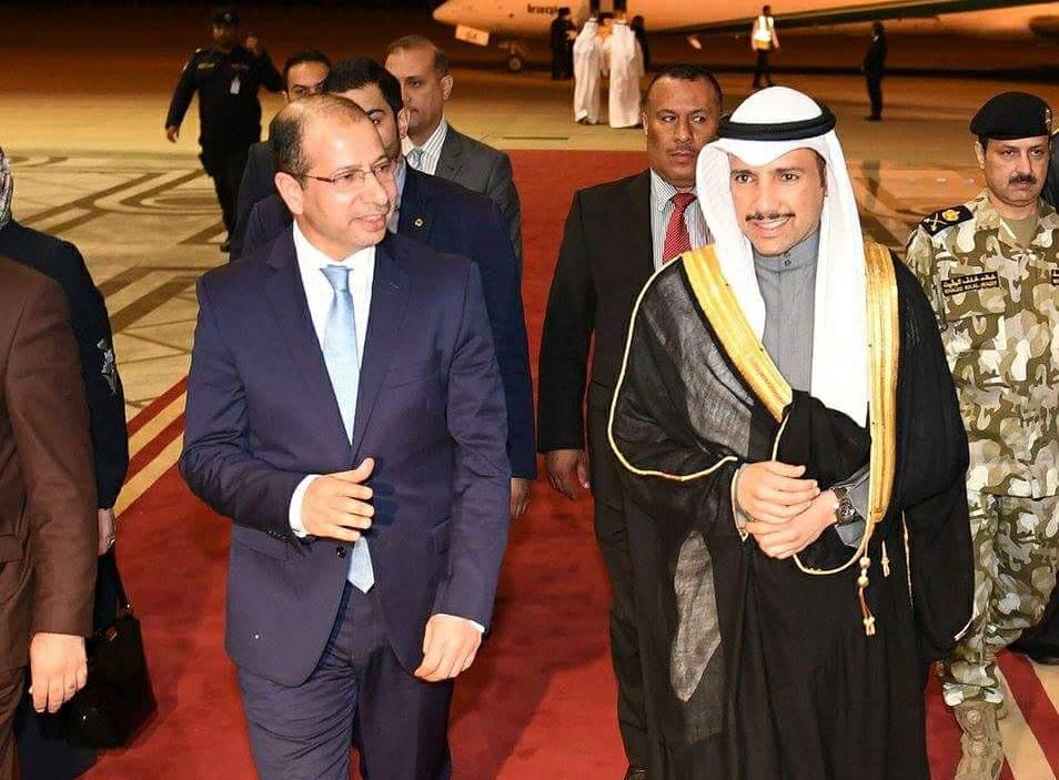 رئيس مجلس النواب العراقي يصل الى الكويت