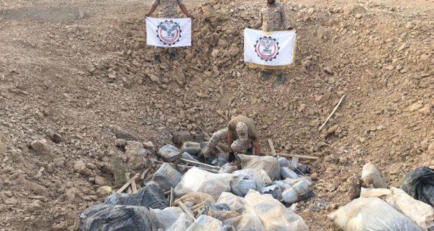هندسة الحشد تواصل تطهير منطقة الحراريات في بيجي من الغام داعش