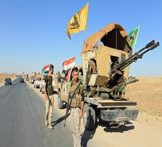 اللواء 313 بالحشد يعثر على مخبأ للسلاح بعملية امنية في سامراء
