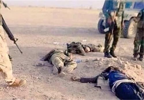 """الحشد الشعبي يقتل اربعة """"دواعش"""" باحباط تسلل لهم على الحدود العراقية السورية"""