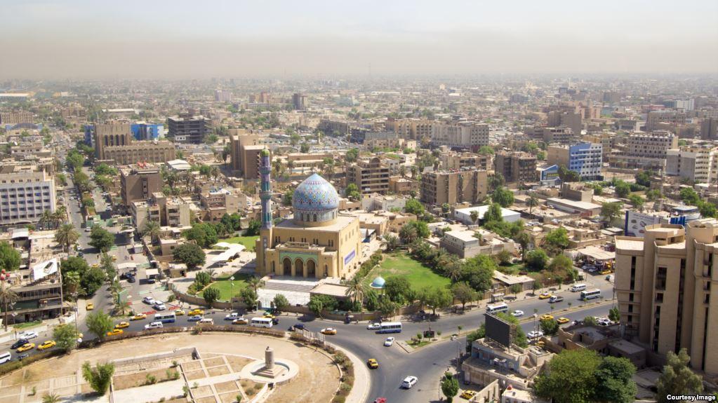 نصب بوابة حضارية عند مدخل سوق الشهداء والحميدية في الفلوجة