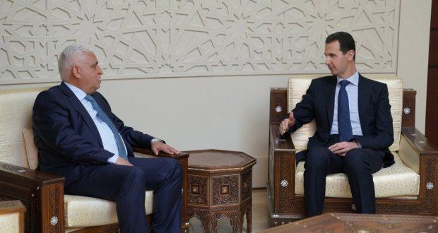 الفياض ناقلا رسالة من العبادي للأسد: القضاء على الإرهاب يشكل حجر أساس لاستقرار المنطقة