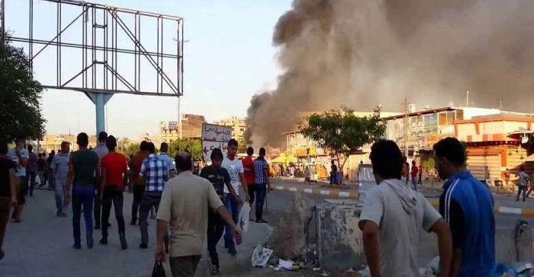 اصابة ثلاثة مدنيين بتفجير عبوة ناسفة شمالي بغداد