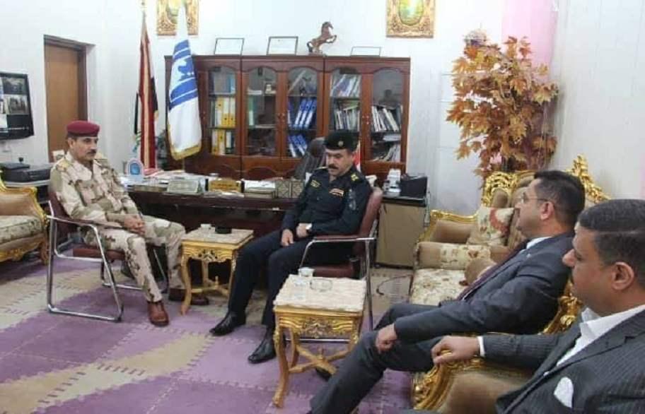 قائد عمليات الرافدين يبحث مع مدير مفوضية ميسان الجوانب الامنية للمراكز الانتخابية