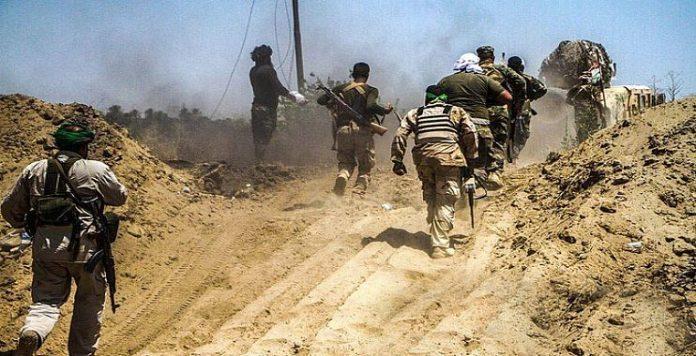 الحشد الشعبي يحبط هجوما إرهابيا كان يستهدف تفجير ابراج نقل الطاقة شرق ديالى