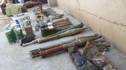 العثور على مخبأ للأعتدة في منطقة الصبيحات شرقي الانبار