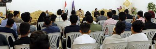 السيد عمار الحكيم يدعو الشباب إلى تحمل مسؤولياتهم في التصدي لبناء الدولة