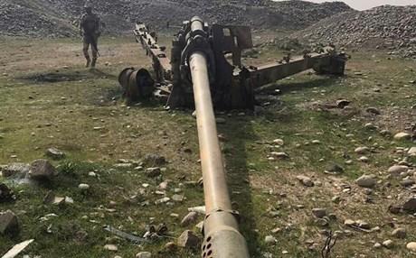 العثور على مدفع كبير يعود لداعش جنوبي الموصل