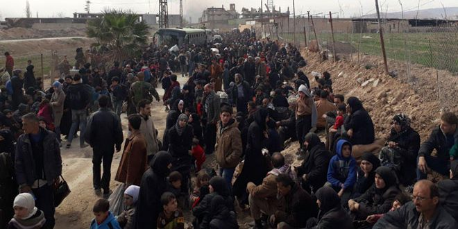 الدفاع الروسية: خروج نحو 154 ألف شخص من غوطة دمشق الشرقية