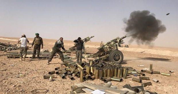 """مدفعية الحشد الشعبي تقصف تجمعا لـ""""داعش"""" داخل الأراضي السورية"""