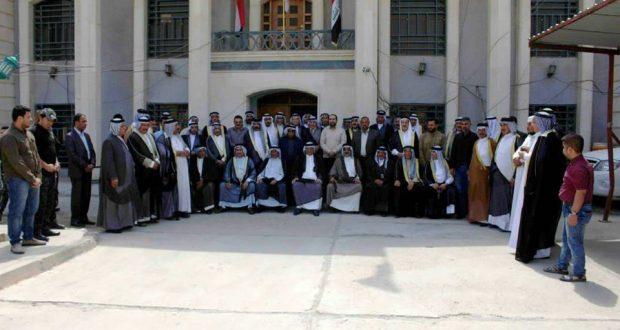 مكتب الحشد بديالى يعقد مؤتمرا عشائريا لتقديم المساعدات لعوائل الشهداء