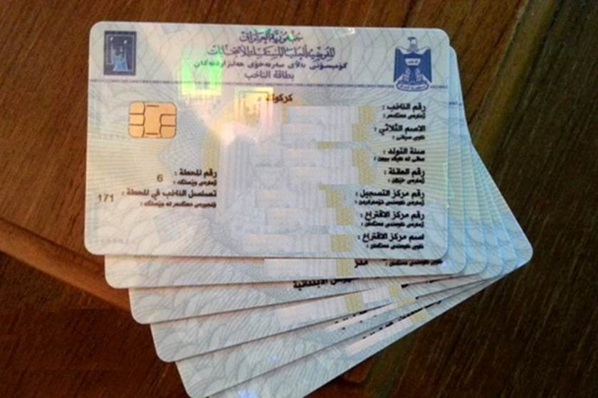 الالاف في كركوك يمتلكون اكثر من بطاقة انتخابية