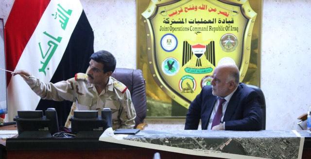 د. العبادي يطلع على مستجدات عمليات تطهير المدن وتأمين الحدود