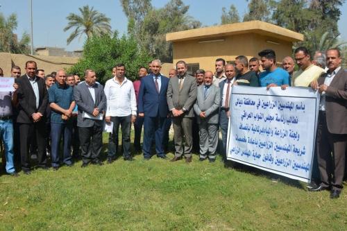التميمي يطالب بإعادة منح المخصصات المهنية للمهندسين الزراعيين
