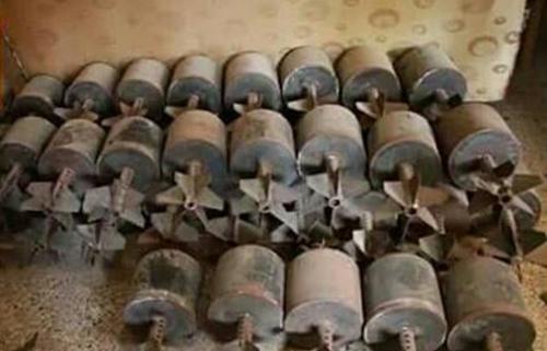 العثور على 76 عبوة ناسفة في محيط معسكر وقرية تابعة لنينوى