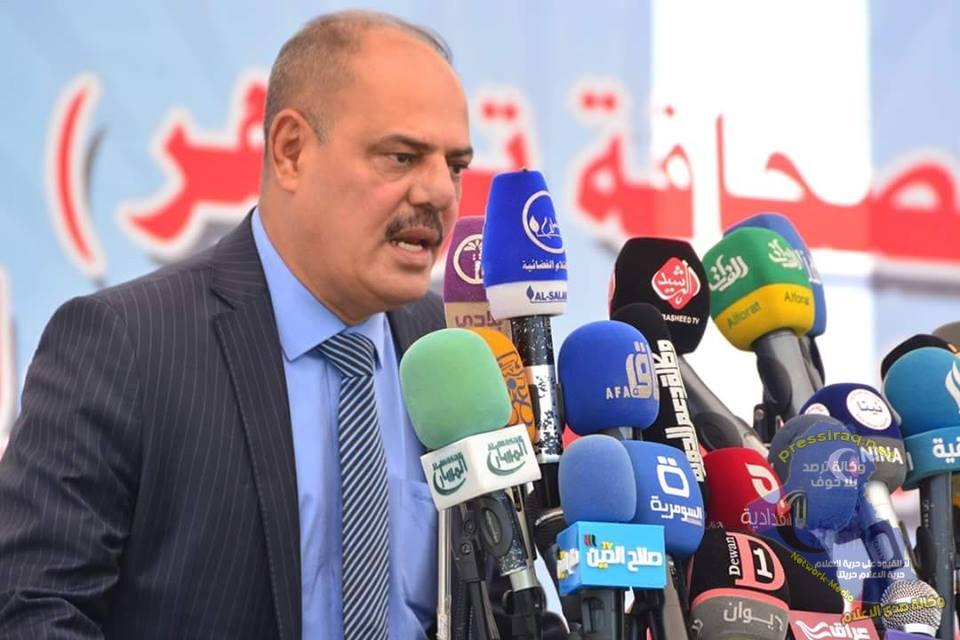 مؤيد اللامي يؤكد ان تضحيات الصحفيين العراقيين جعلت من الاسرة الصحفية احد اعمدة النصر المبين