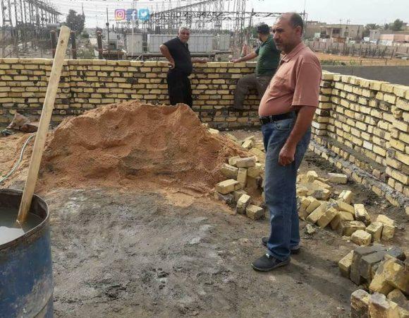"""الحشد الشعبي في بابل يباشر ببناء منزل لعائلة شهيد بالمحافظة ضمن حملة """"حفظ الأمانة"""""""