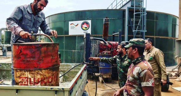 الحشد الشعبي يوفر الأمن والماء لاقصى مدينة حدودية في الأنبار