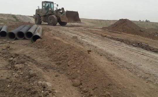 """بالصورة.. الهندسة العسكرية للحشد تعيد تأهيل """"العبرة"""" في ناحية تل عبطة"""