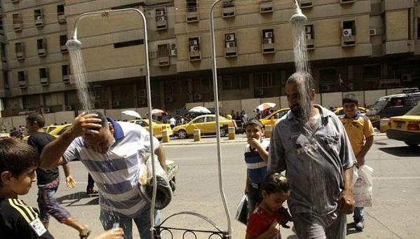 إرتفاع كبير بدرجات الحرارة في العراق