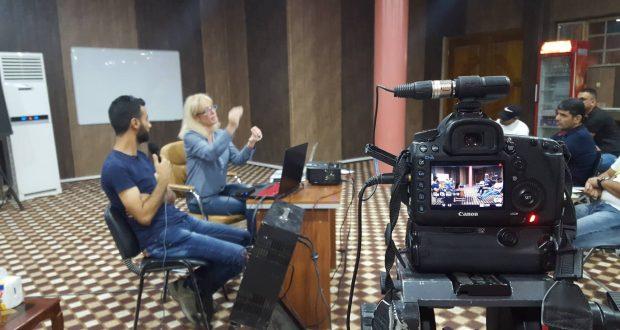 مخرجة الأفلام الوثائقية البولندية هانا بولاك تتحدث عن تجربتها مع ورشة إعلام الحشد الشعبي
