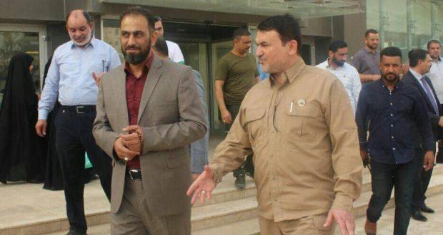 مدير مكتب الحشد في بابل يستقبل معاون نائب رئيس هيئة الحشد الشعبي لشؤون المقاتلين