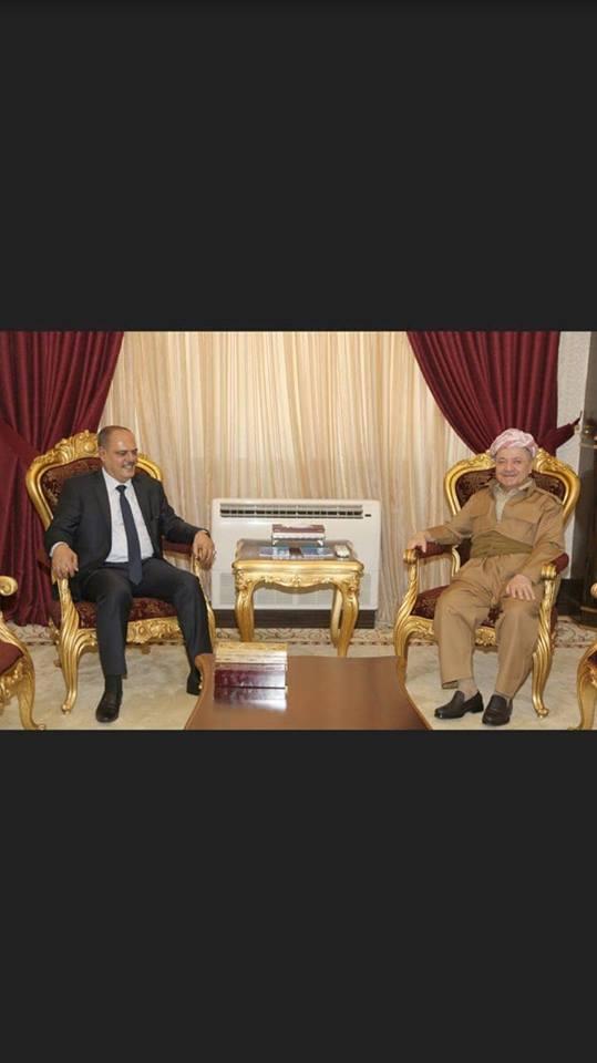البارزاني ومؤيد اللامي يلتقيان لبحث الاوضاع السياسية في العراق