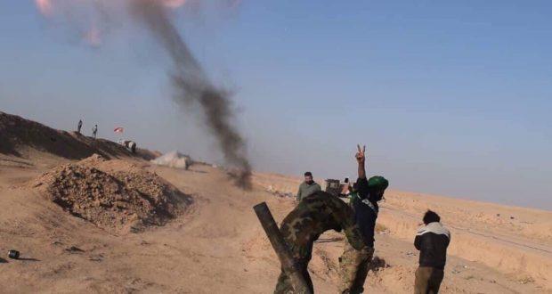الحشد الشعبي يستهدف تجمعات لداعش داخل الاراضي السورية